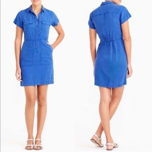 J. Crew Factory Blue utility dress with pockets